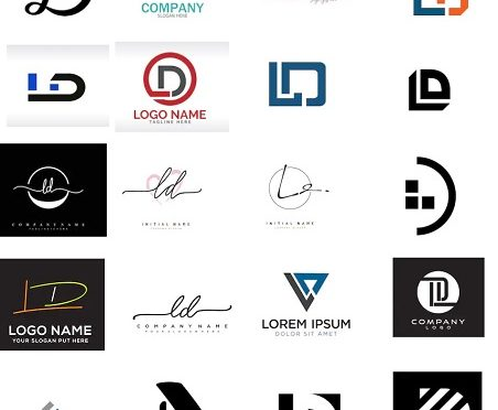 50 Mẫu logo chữ L và D