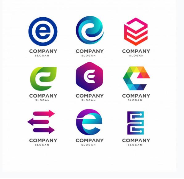 Logo chữ E đẹp